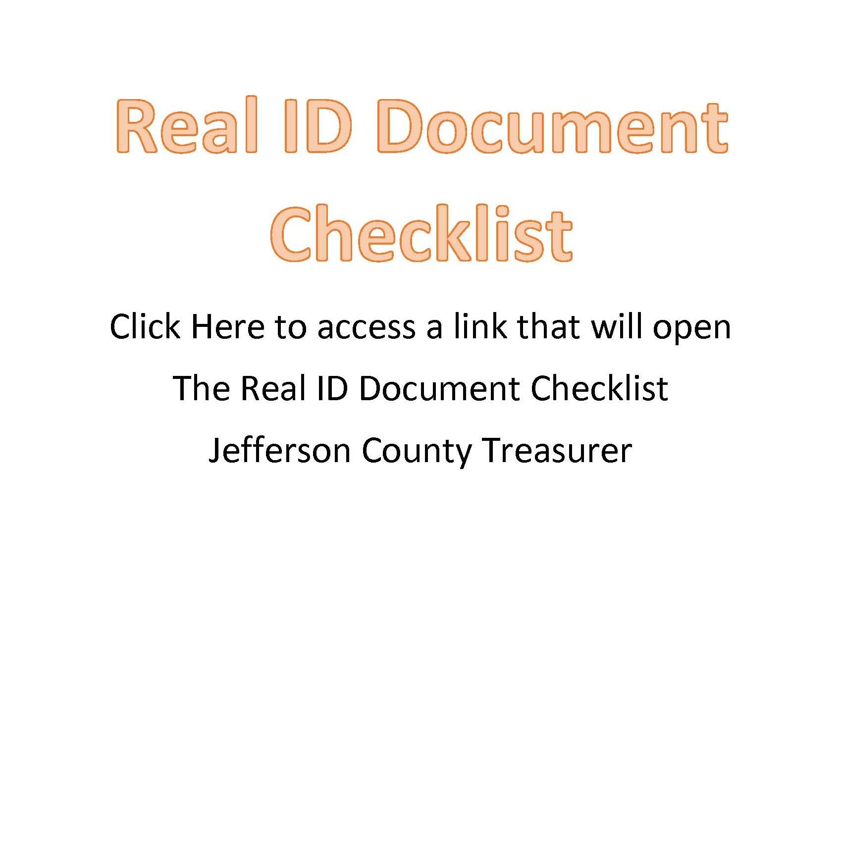 Real ID Document Checklist